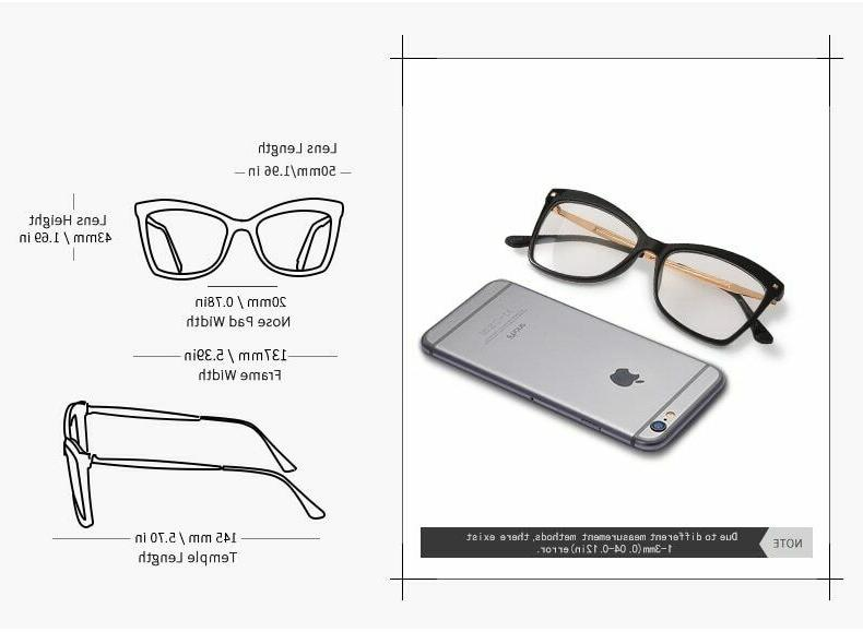 Ladies Frame Lens Female Solid Glass
