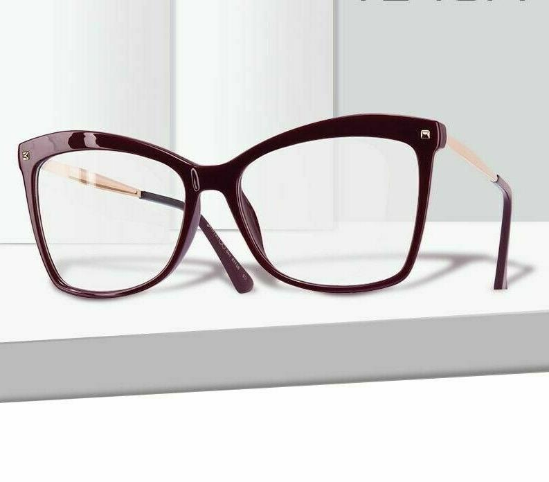 ladies frame eyeglasses clear lens eye wear