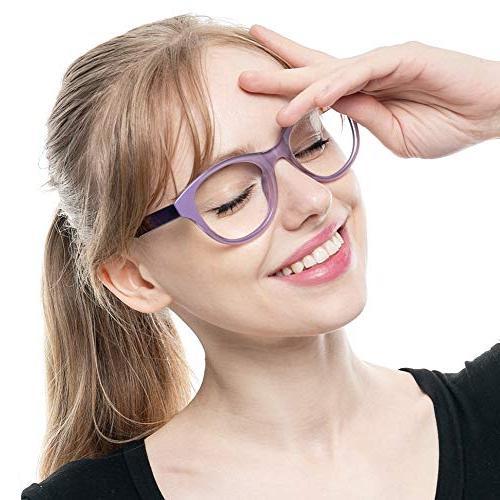 SOOLALA Lovely Color Oversized Glasses Glasses,