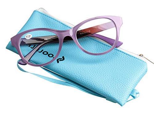 Oversized Clear Lens Eye Glasses Frame Wide Glasses, 1.75D