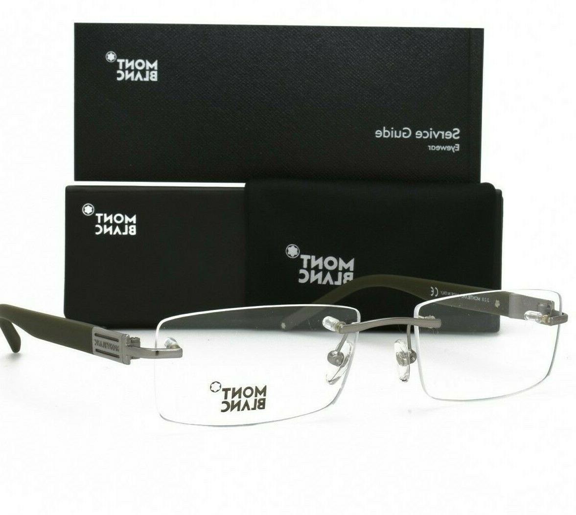 matte light silver rimless eyeglasses brand new