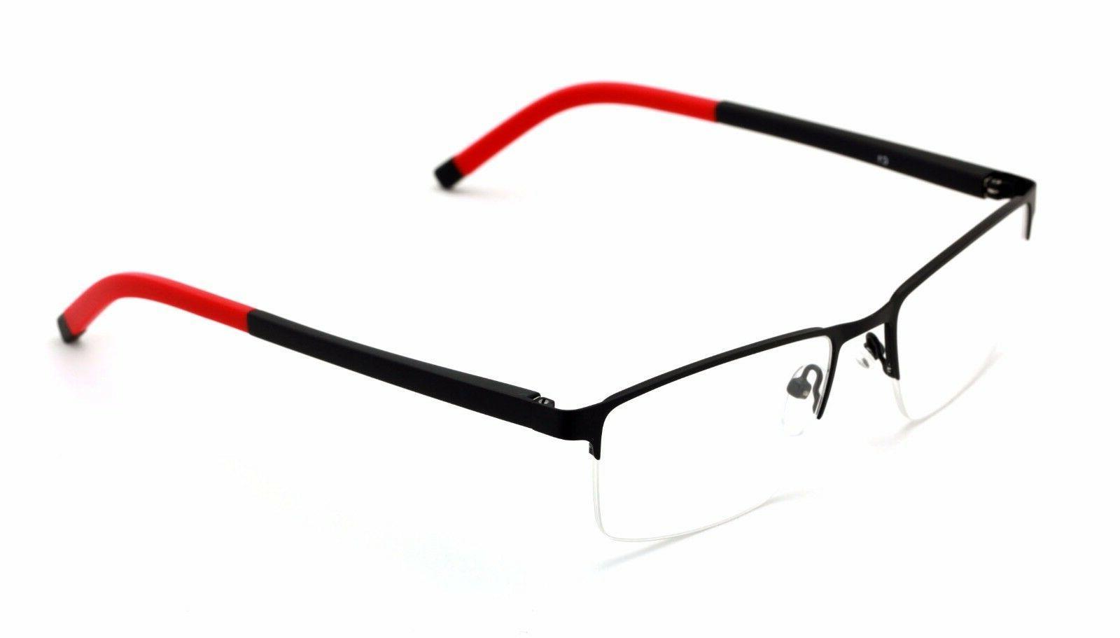 men half rimless rectangle non prescription glasses