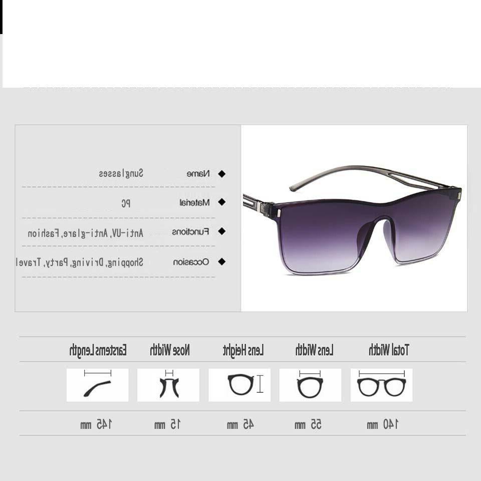 Men's Square Colorful Designer Eye Accessories Uv400