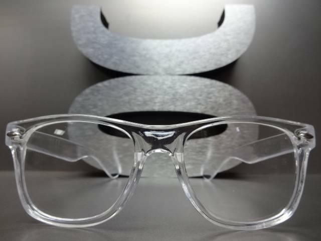 Men's Women Style Lens EYE GLASSES Crystal