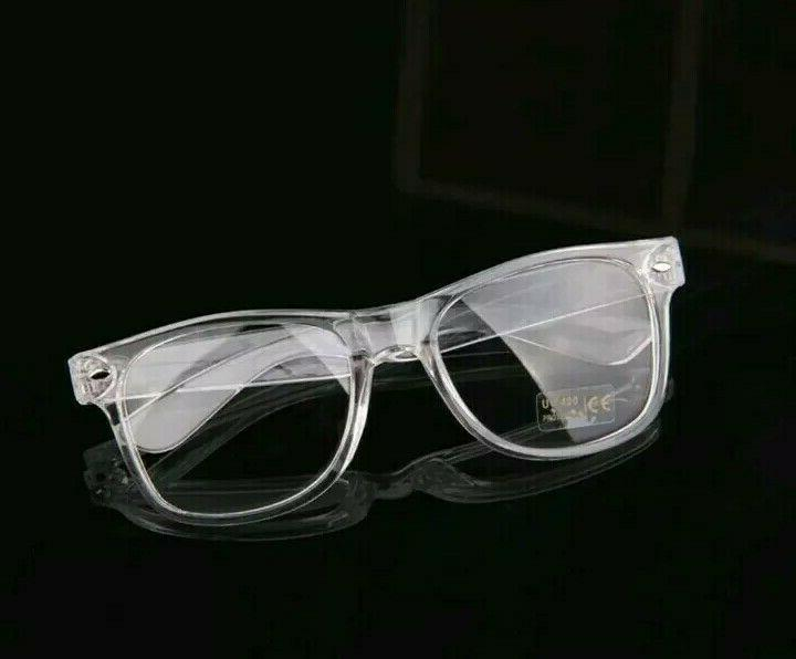 Men's Women VINTAGE RETRO Style Clear Lens EYE GLASSES TRANSPARENT FRAME