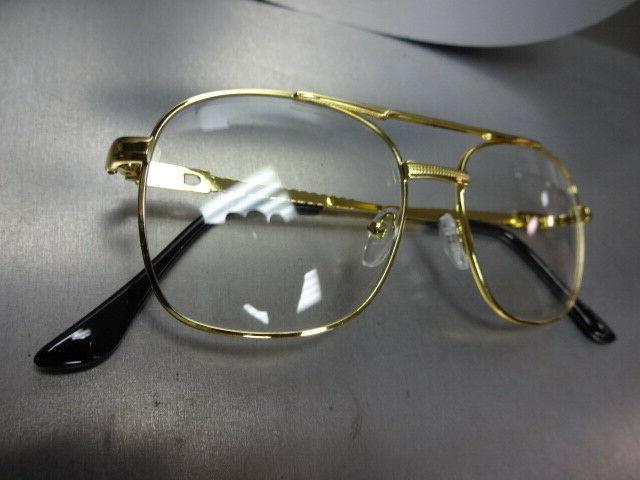 Men VINTAGE RETRO Style GLASSES Gold Fashion Frame