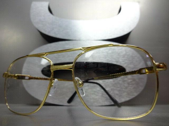 Men Style GLASSES Small Gold Frame