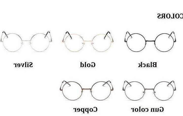 men women round sunglasses metal frame eyeglasses