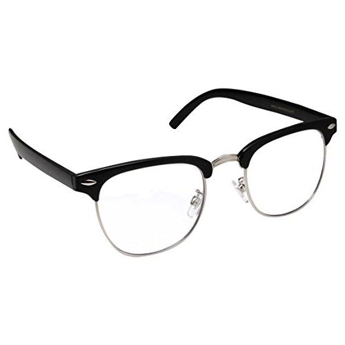 mens non prescription clear lens glasses black