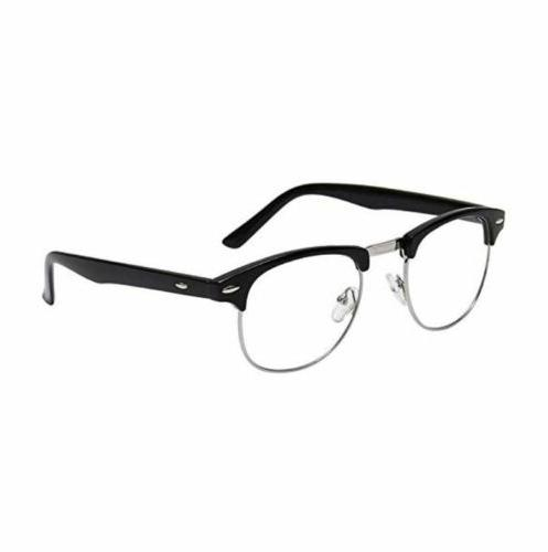 mens non prescription clear lens vintage classic