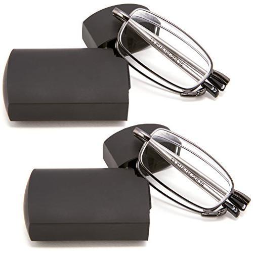 metal compact folding reading glasses