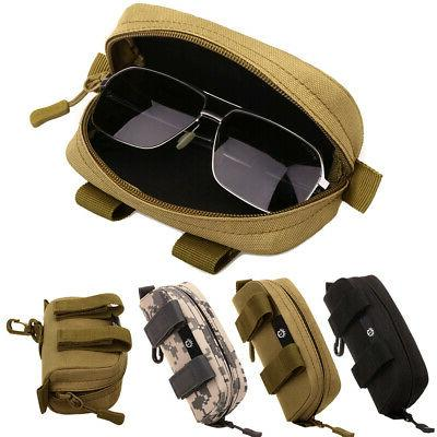 molle sunglasses case eyeglasses bag tactical military