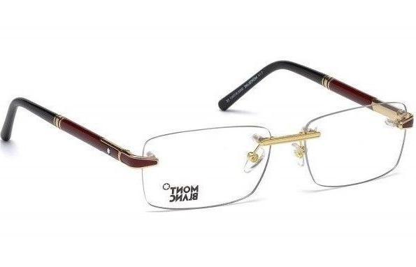 montblanc rimless mens eyeglasses mb 0490 028