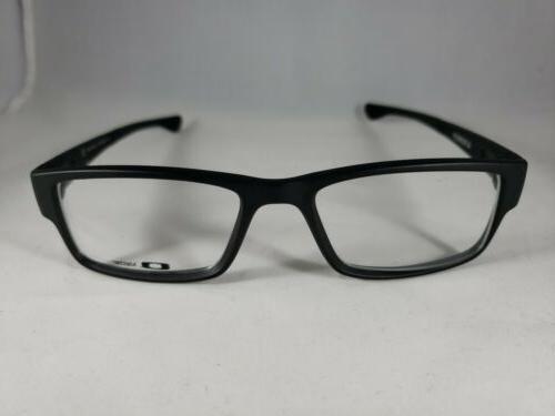new airdrop ox8046 0155 satin black eyeglasses
