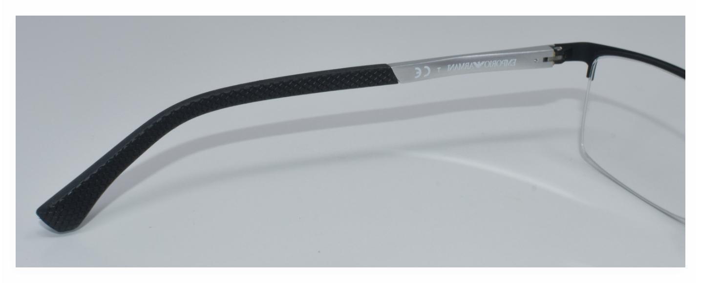 NEW EYEGLASSES EA1041 BLACK/SILVER 55-17-140