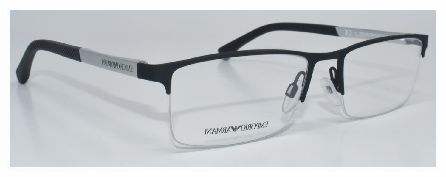 new authentic eyeglasses ea1041 3094 black silver