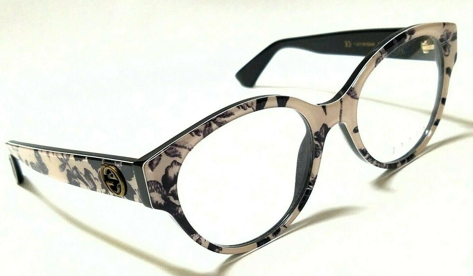 new authentic gg0099o 005 black flowers 50