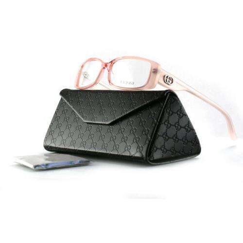 new eyeglasses gg 3050 u9x transparent pink