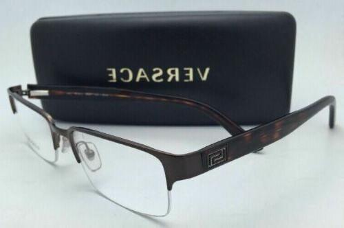 New VERSACE Eyeglasses 1184 Brown/Havana