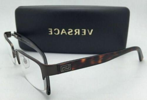 New Eyeglasses 1184 1269 Semi-Rimless Brown/Havana Frame