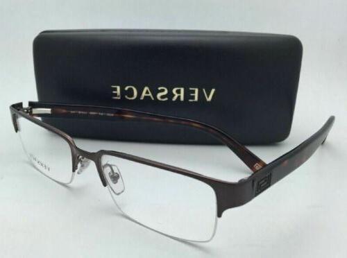 New VERSACE Eyeglasses VE 1184 53-18 Brown/Havana