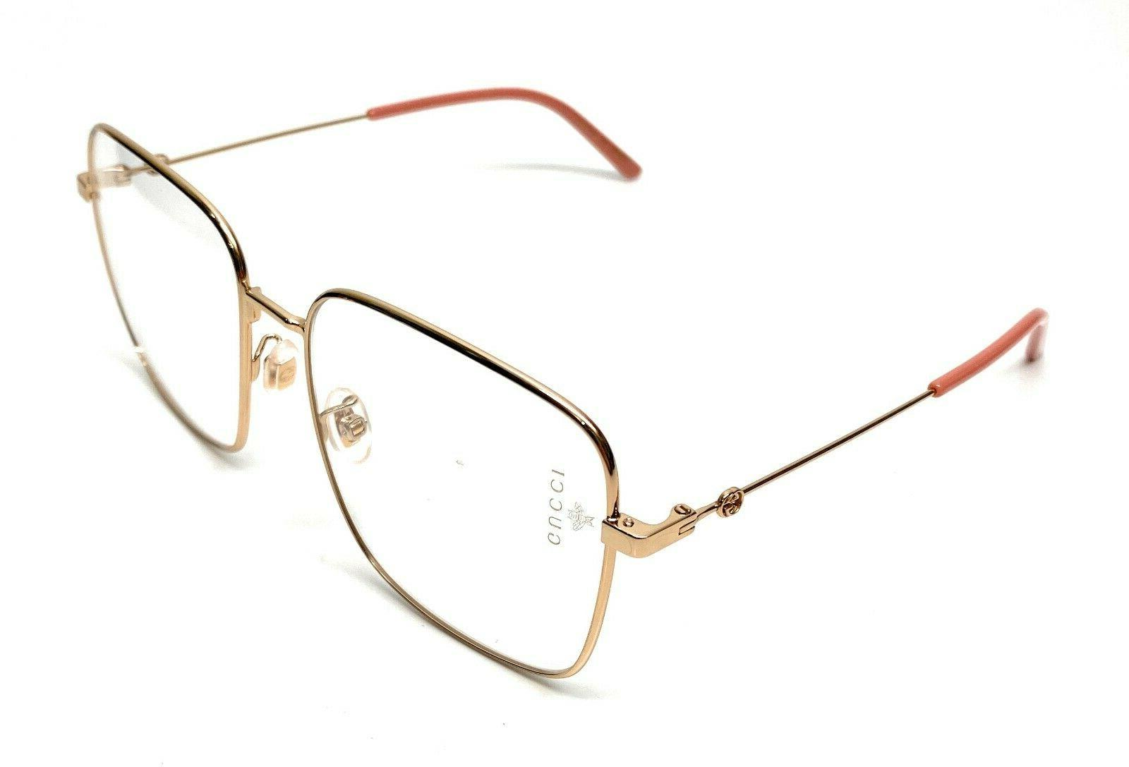 New Gucci 001 Gold Women's Authentic Eyeglasses