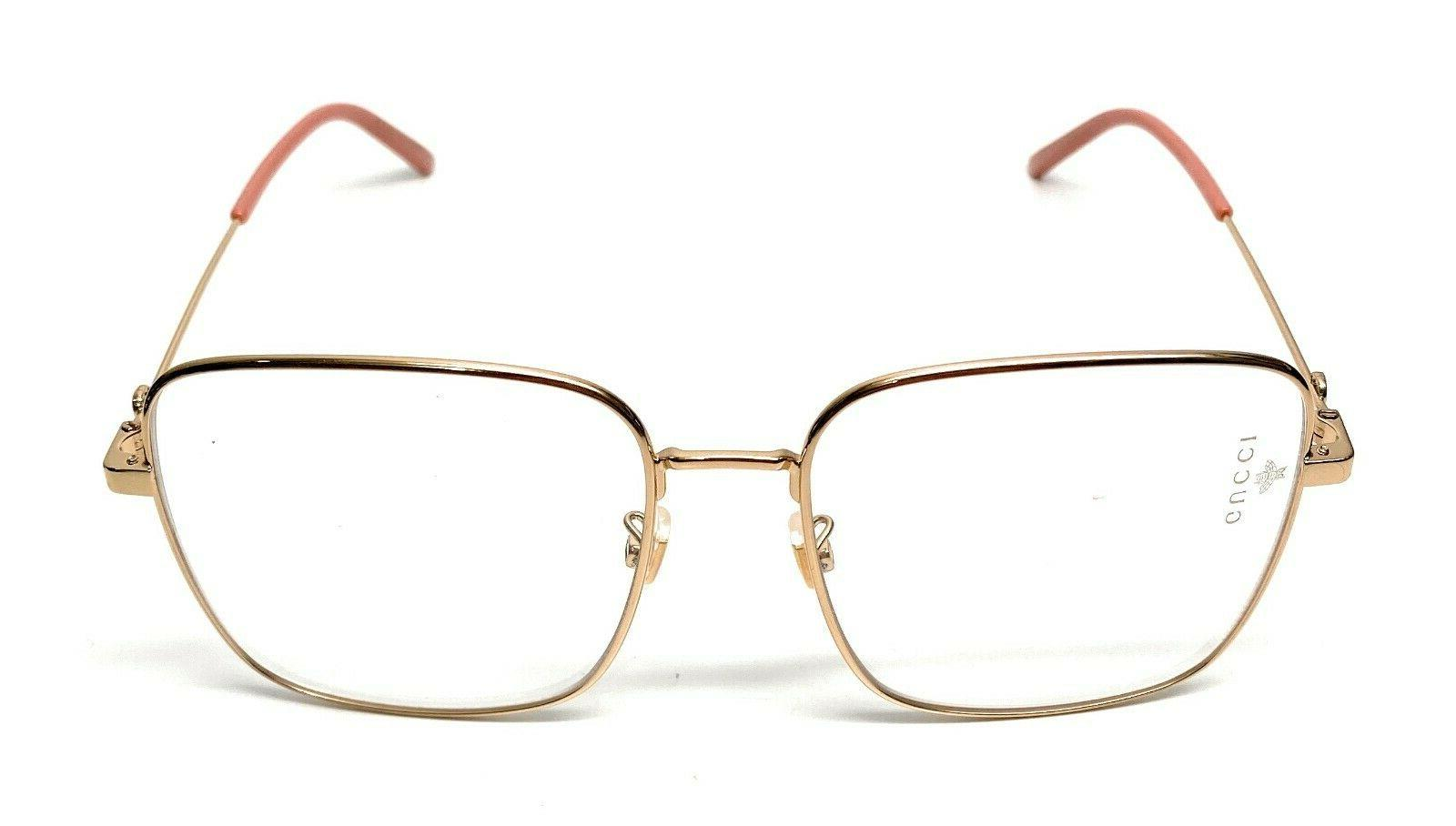 New Gucci GG 001 Gold Eyeglasses 56-17-A2