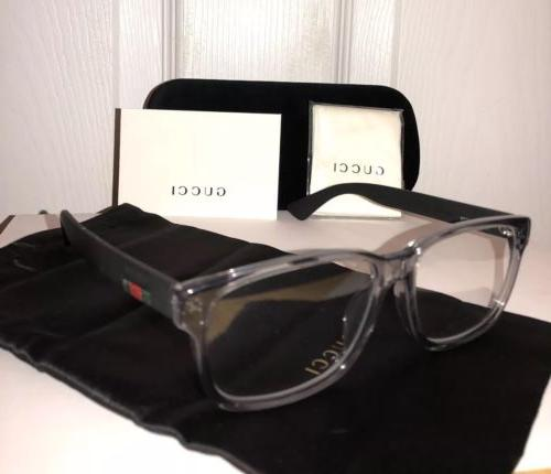 new gg0011oa clear and black eyeglasses frame