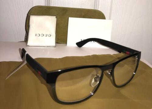 new gg0175o 002 mens black eyeglasses frame