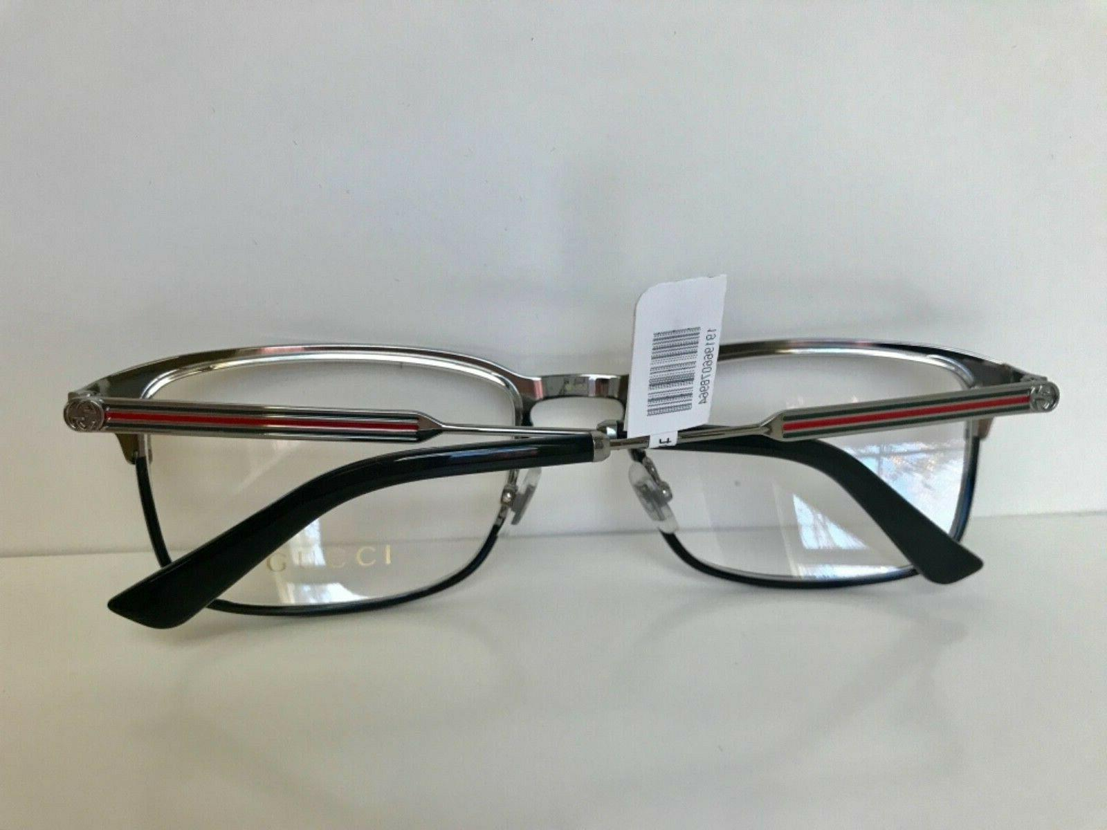 NEW GUCCI 006 SILVER EYEGLASSES FRAMES w/ WEB ARMS