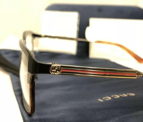 NEW GUCCI Men 008 Jet Black Havana Eyeglasses Web