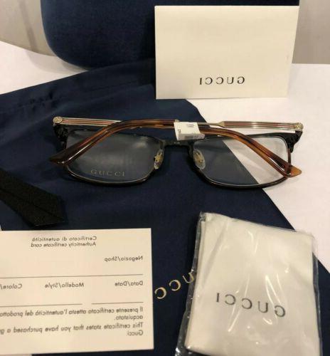 NEW GUCCI Men 008 Jet Havana Eyeglasses Frames Web