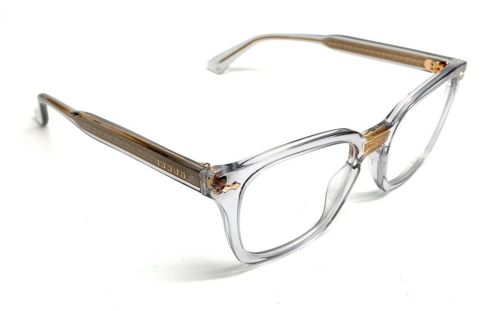 gg0184o 005 grey unisex authentic eyeglasses frame