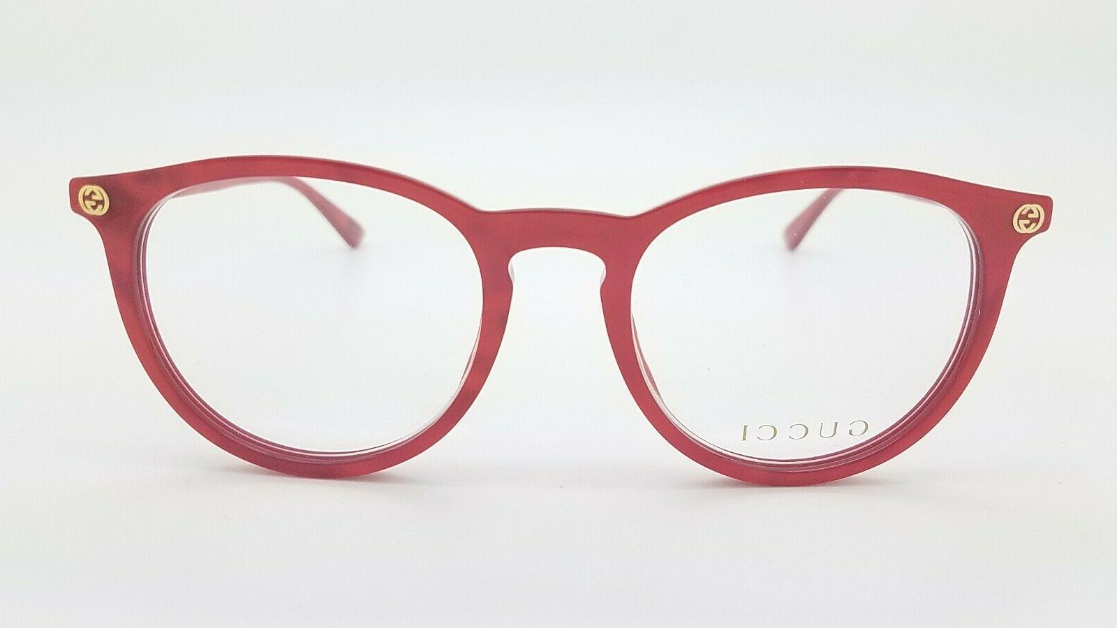 NEW Gucci Glasses Red GG0027O 004 0027O Women