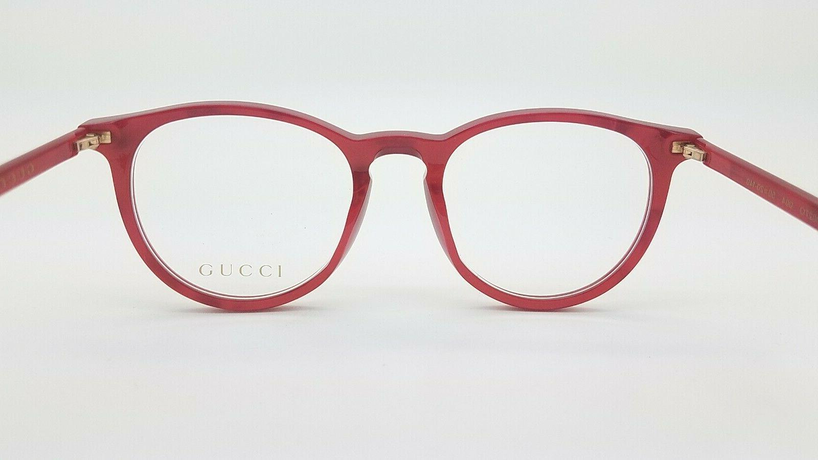NEW Gucci RX Frame Glasses Red 004 50mm AUTHENTIC 0027O