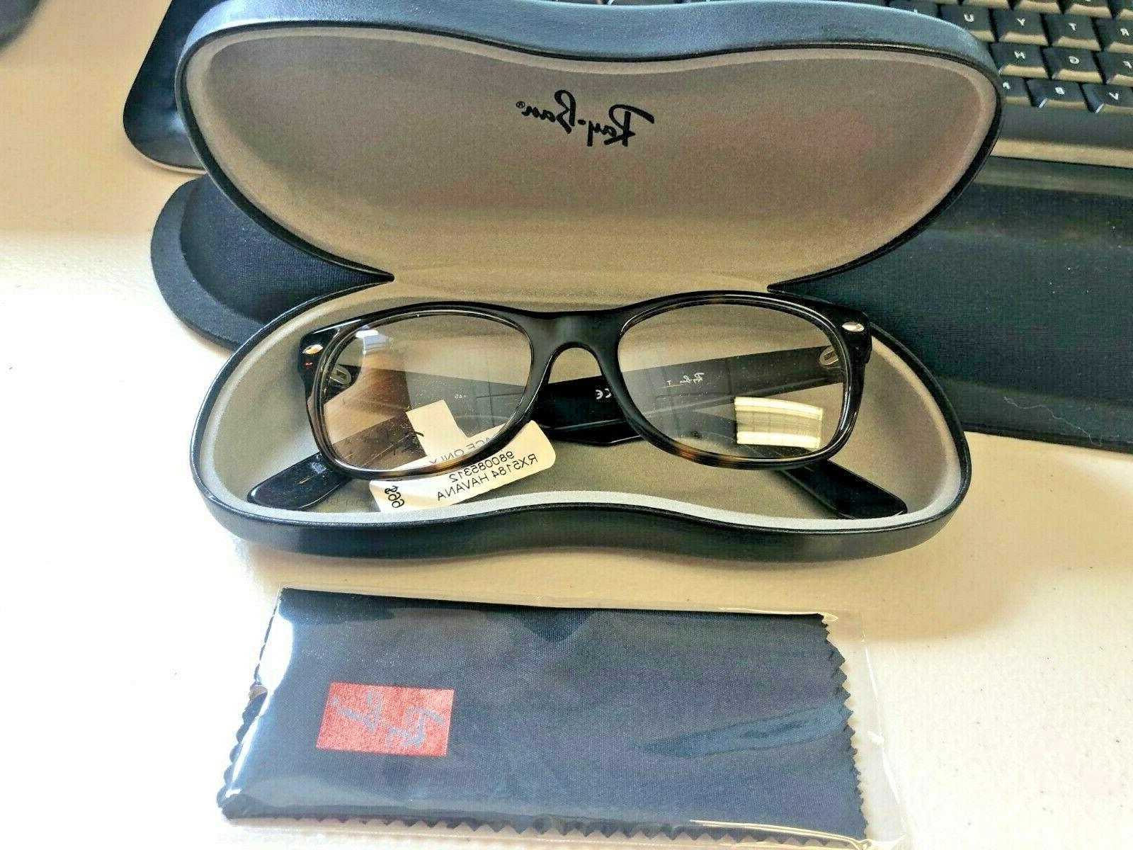 new trace only rayban eyeglasses rx5184 havana