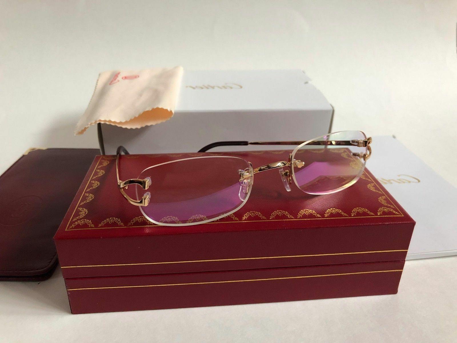 nib c decor rimless unisex gold eyeglasses