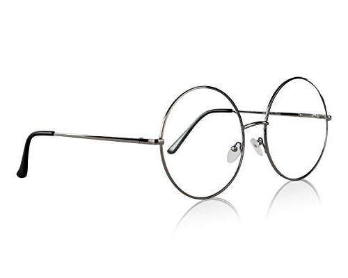 non prescription eyeglasses silver clear lens