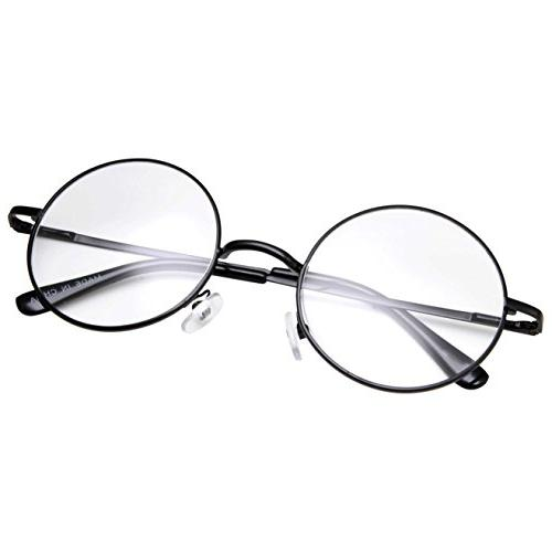 non prescription round circle frame clear lens