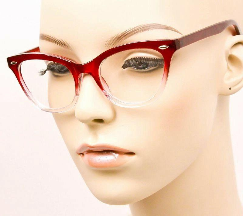 Ombre Gradient Frames Demi Fashion Clear Lens 1404