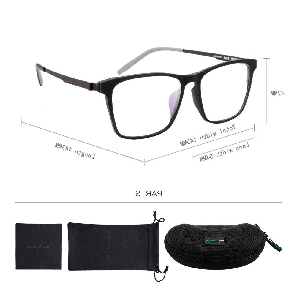 Reedoon Frame Ultralight Prescription <font><b>Eyeglasses</b></font> Plastic Titanium Frame Clear Lens <font><b>Men</b></font> Women