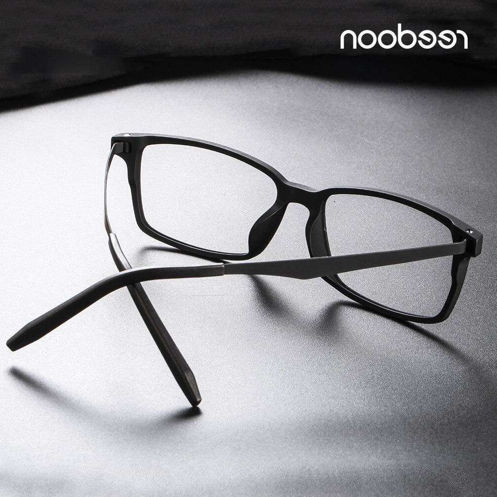 Reedoon Frame Ultralight Square Prescription <font><b>Eyeglasses</b></font> Titanium Frame Clear Lens <font><b>Men</b></font>