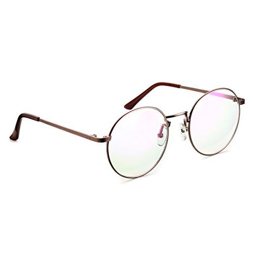 optical metal eyeglasses round circle oversized clear