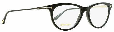 oval eyeglasses tf5509 001 black gold 54mm