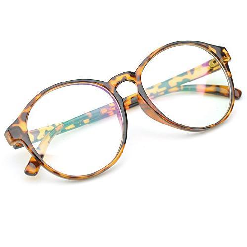oversized circle eyeglasses frame inspired horned rim