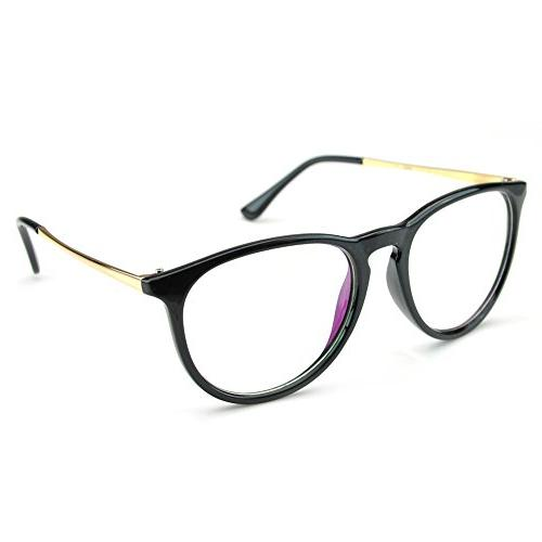 oversized clear lens round circle