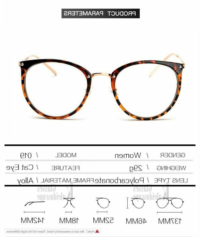 Oversized Eyeglass Women Cat Eye