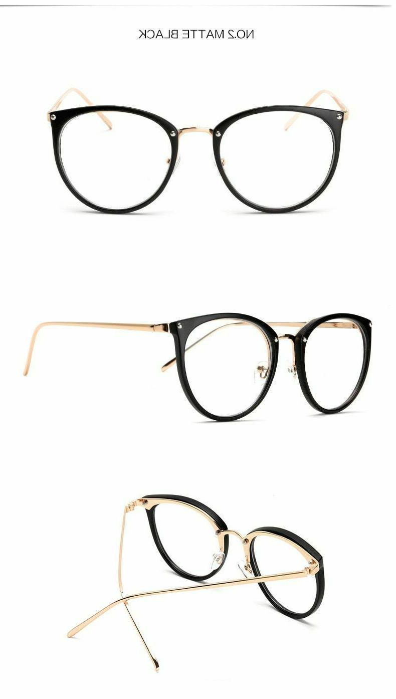 Oversized Eyeglasses Clear Eyeglass