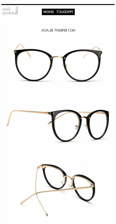 Oversized Eyeglasses Clear Lens Eyeglass Eye Wear Shades