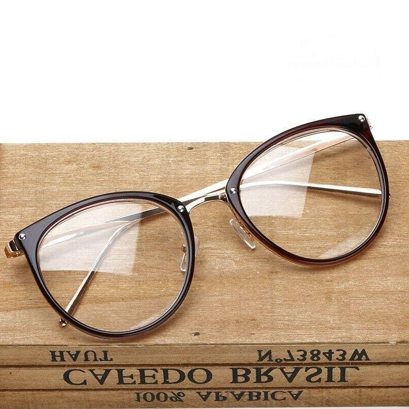 Oversized Eyeglasses Clear Lens Eyeglass Women Eye Eye